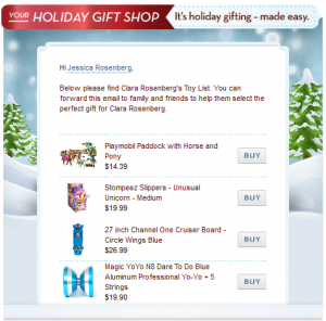 eBay Holiday Gift shop email for gifters 300x296 Easy gifting thanks to eBay