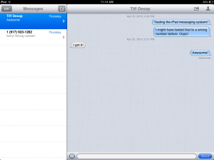 iPad Messaging 300x225 5 Things You Probably Didnt Know Your iPad Could Do