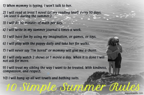 Family Summer Rules