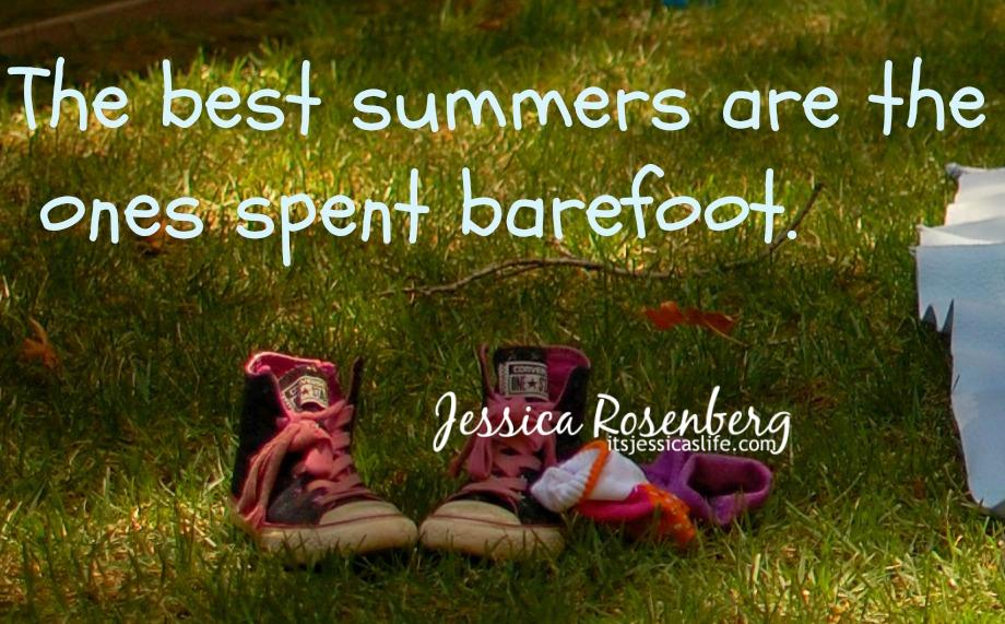 No shoe summer with quote